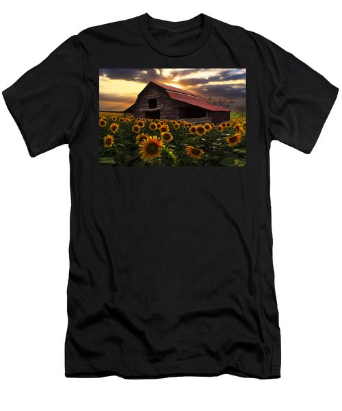 Men's T-Shirt (Athletic Fit) featuring the photograph Sunflower Farm by Debra and Dave Vanderlaan