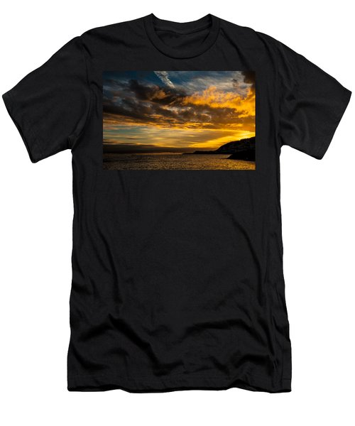 Sunset Over The Ocean  Men's T-Shirt (Athletic Fit)