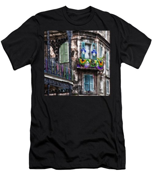 The French Quarter During Mardi Gras Men's T-Shirt (Athletic Fit)