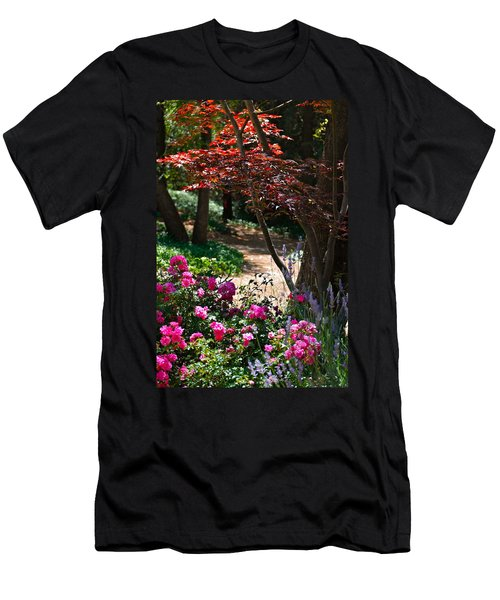 Men's T-Shirt (Slim Fit) featuring the photograph The Garden Path by Michele Myers