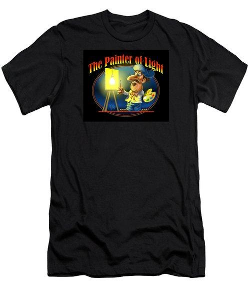 Men's T-Shirt (Slim Fit) featuring the digital art The Painter Of Light by Scott Ross
