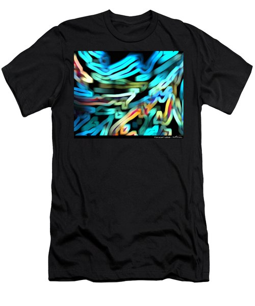 Men's T-Shirt (Athletic Fit) featuring the digital art The Scarf by Mihaela Stancu