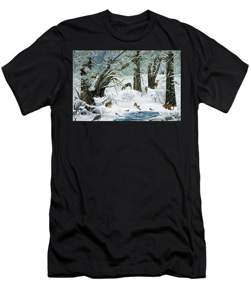 They Said It Wouldn't Snow Men's T-Shirt (Athletic Fit)