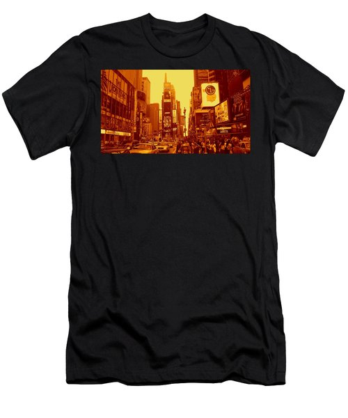 42nd Street And Times Square Manhattan Men's T-Shirt (Athletic Fit)