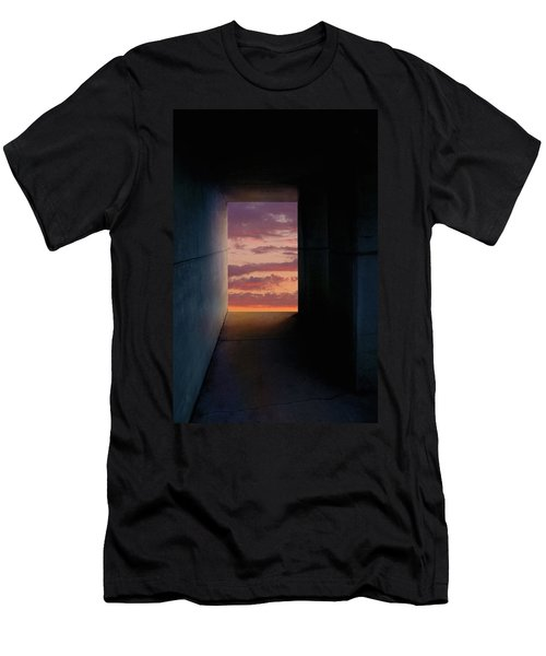 Tunnel With Light Men's T-Shirt (Slim Fit) by Melinda Fawver