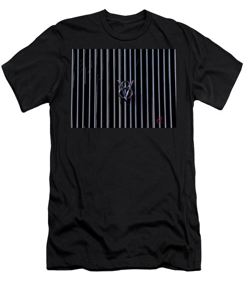 Men's T-Shirt (Slim Fit) featuring the photograph V8 Grill by Chris Thomas