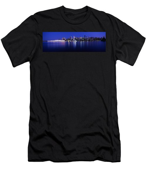 Vancouver Skyline At Night, British Men's T-Shirt (Athletic Fit)
