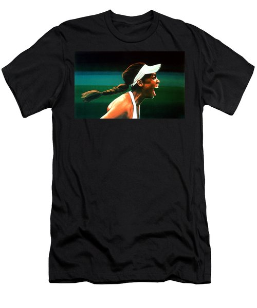 Venus Williams Men's T-Shirt (Slim Fit) by Paul Meijering
