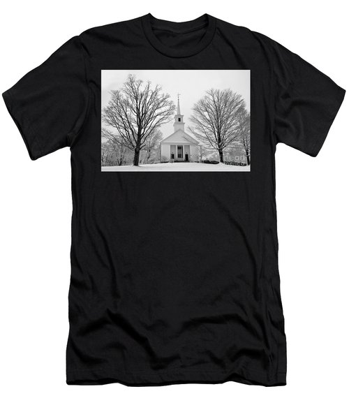 Winter Snow Scene Men's T-Shirt (Athletic Fit)