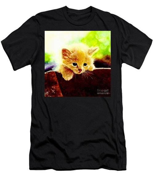 Yellow Kitten Men's T-Shirt (Athletic Fit)
