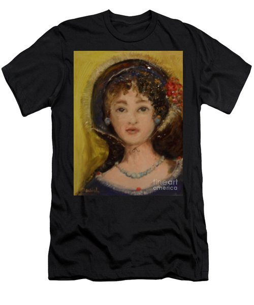 Men's T-Shirt (Athletic Fit) featuring the painting Yesterday by Laurie Lundquist