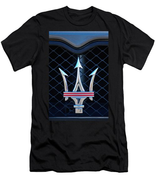 2005 Maserati Gt Coupe Corsa Emblem Men's T-Shirt (Slim Fit) by Jill Reger