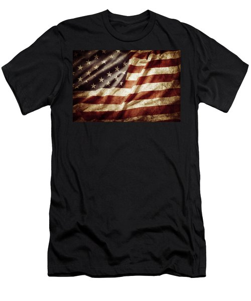 American Flag 53 Men's T-Shirt (Athletic Fit)
