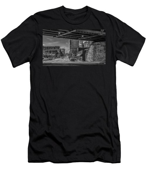 Men's T-Shirt (Slim Fit) featuring the photograph 2nd Street by Ray Congrove