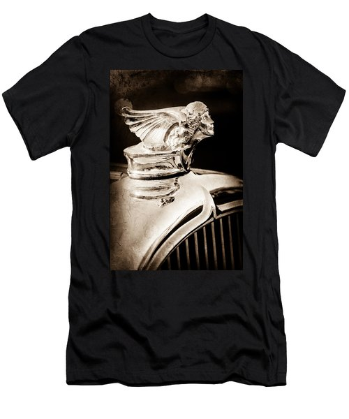 Men's T-Shirt (Athletic Fit) featuring the photograph 1927 Buick Goddess Hood Ornament by Jill Reger