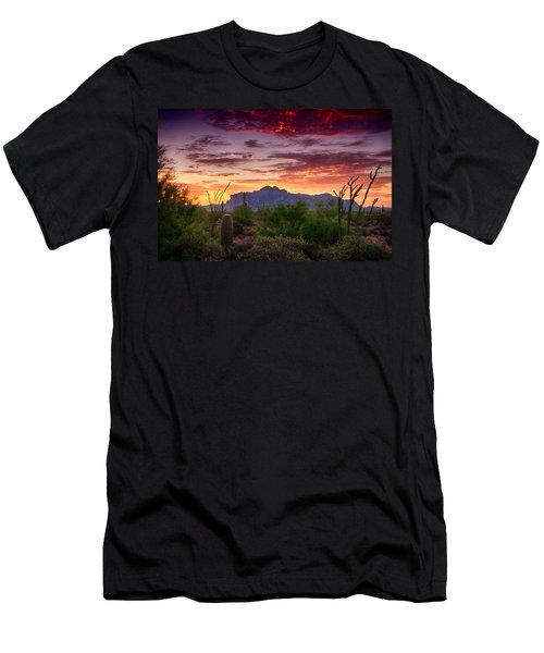 A Superstition Sunrise  Men's T-Shirt (Slim Fit) by Saija  Lehtonen