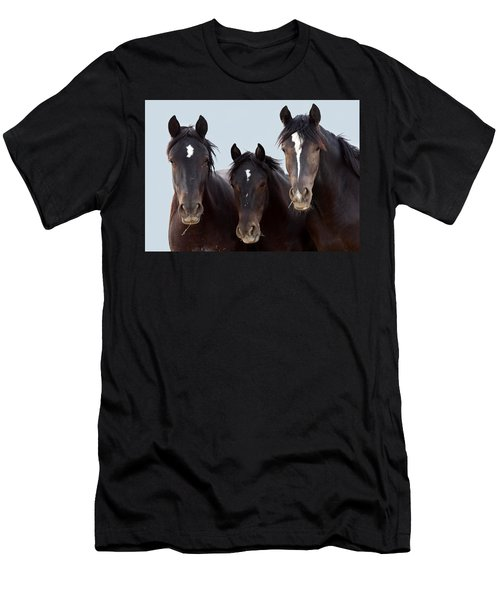 3 Amigos Wild Mustang Men's T-Shirt (Athletic Fit)