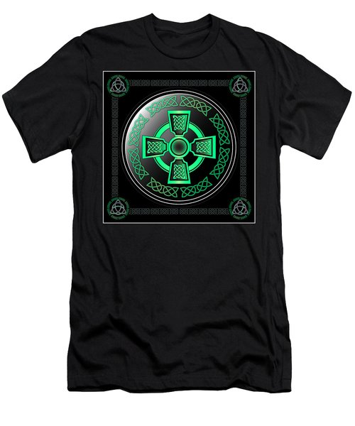 Celtic Cross Men's T-Shirt (Slim Fit) by Ireland Calling