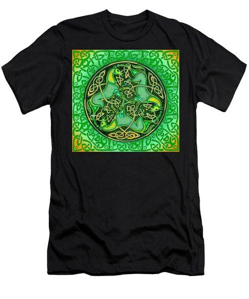 3 Celtic Irish Horses Men's T-Shirt (Slim Fit) by Michele Avanti
