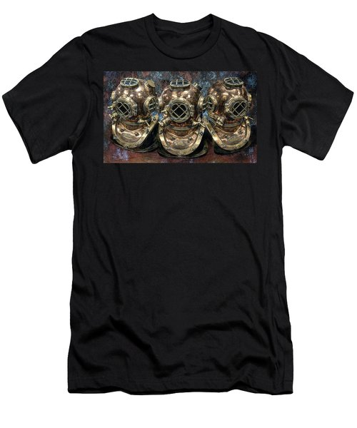 3 Deep-diving Helmets Men's T-Shirt (Athletic Fit)