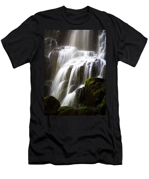 Men's T-Shirt (Slim Fit) featuring the photograph Fairy Falls by Patricia Babbitt