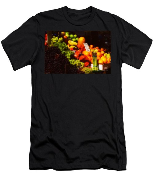 Men's T-Shirt (Slim Fit) featuring the photograph 3 For 2 Dollars by Miriam Danar