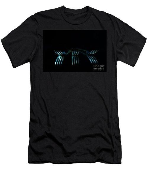 3 Forks Men's T-Shirt (Slim Fit) by Randi Grace Nilsberg