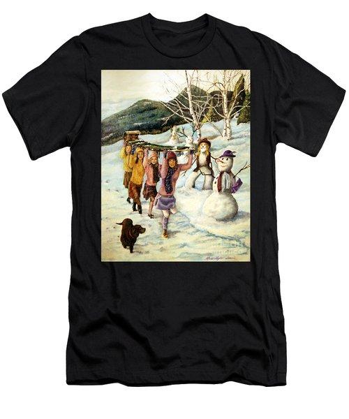 Frosty Frolic Men's T-Shirt (Athletic Fit)
