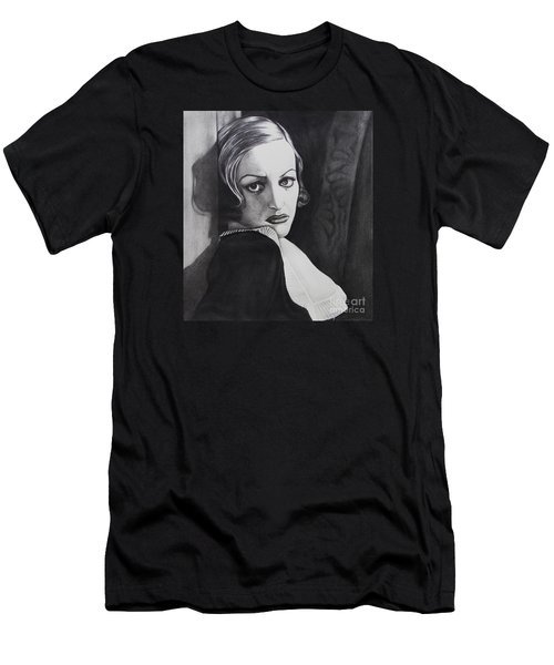Men's T-Shirt (Slim Fit) featuring the drawing Grand Hotel   by Joseph Sonday