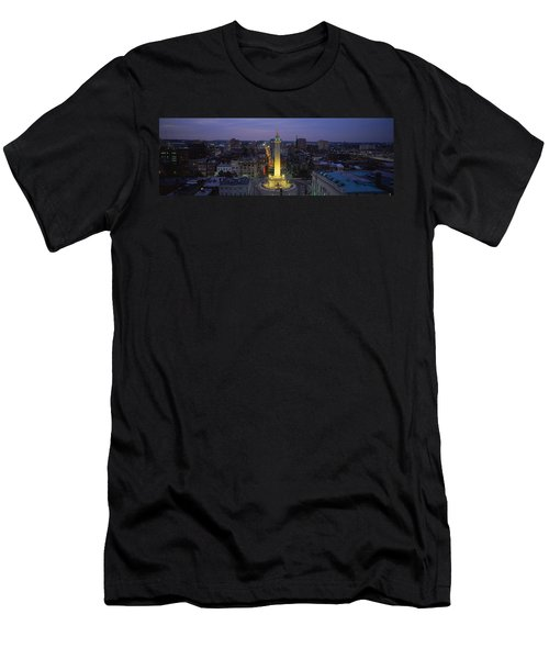 High Angle View Of A Monument Men's T-Shirt (Slim Fit) by Panoramic Images