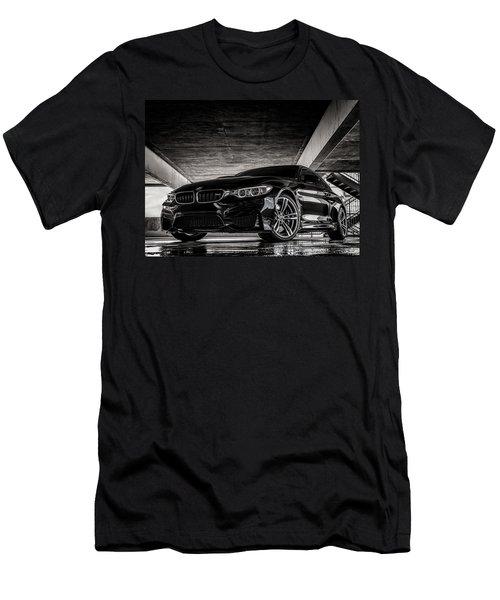 Men's T-Shirt (Slim Fit) featuring the digital art I Take Mine Black by Douglas Pittman