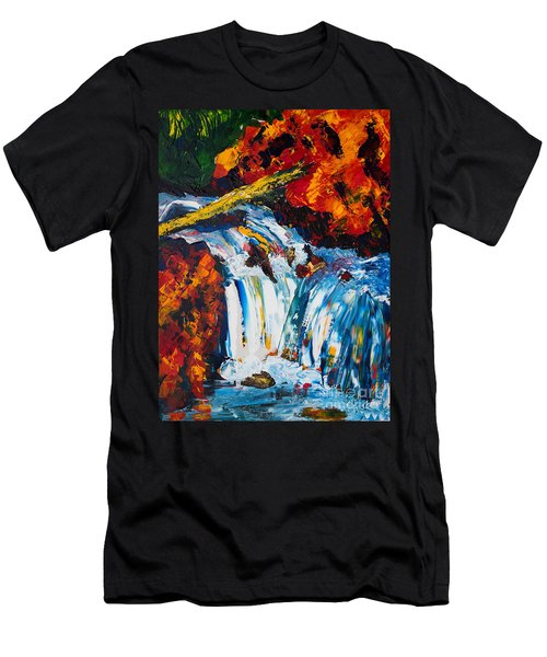Log And Waterfall Men's T-Shirt (Athletic Fit)