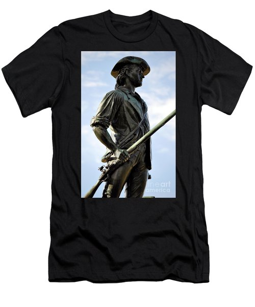 Minute Man Statue Concord Massachusetts Men's T-Shirt (Athletic Fit)
