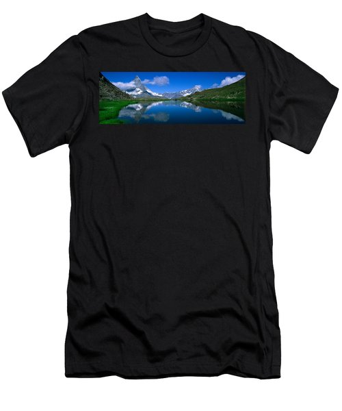 Reflection Of Mountains In Water Men's T-Shirt (Athletic Fit)