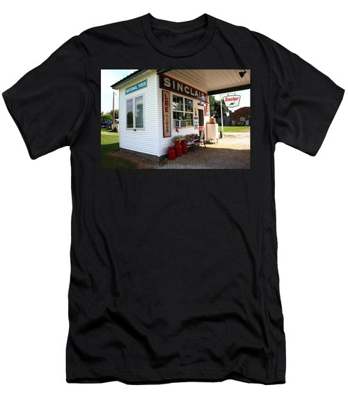 Route 66 Filling Station Men's T-Shirt (Athletic Fit)