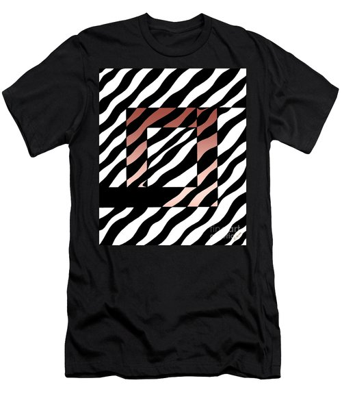 Men's T-Shirt (Slim Fit) featuring the drawing 3 Squares With Ripples by Joseph J Stevens