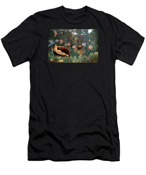 The Dream Men's T-Shirt (Slim Fit) by Henri Rousseau