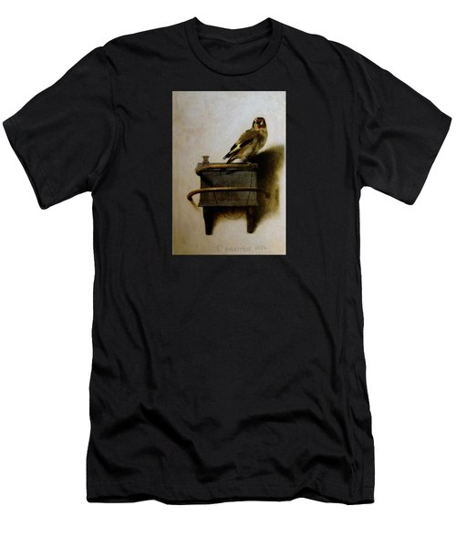 Men's T-Shirt (Athletic Fit) featuring the painting The Goldfinch by Carel Fabritius