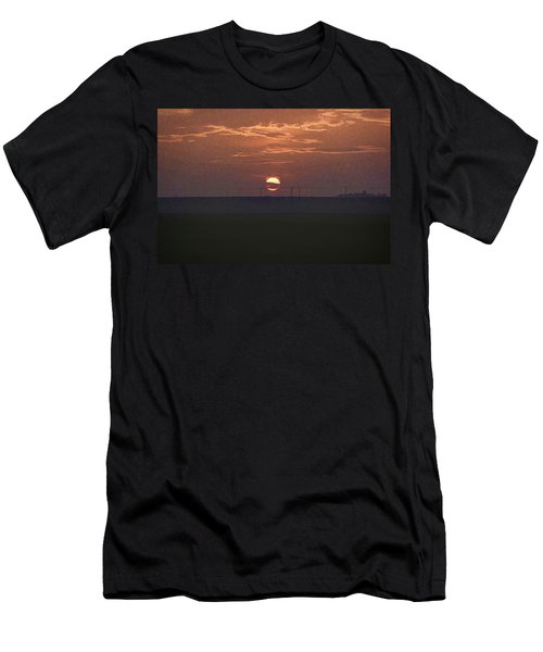 The Setting Sun In The Distance With Clouds Men's T-Shirt (Athletic Fit)
