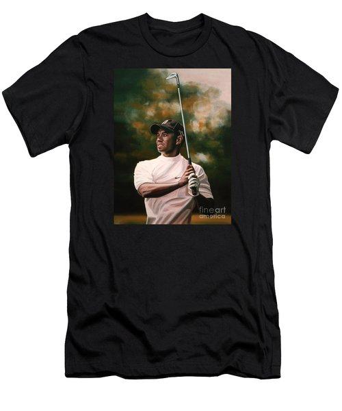 Tiger Woods  Men's T-Shirt (Slim Fit) by Paul Meijering