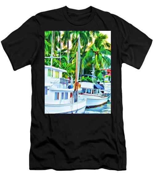 Two Boats Men's T-Shirt (Athletic Fit)