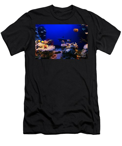 Underwater Scene Men's T-Shirt (Athletic Fit)