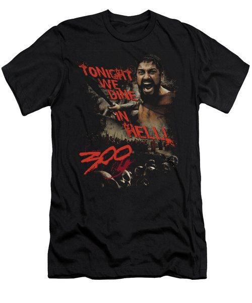 300 - Dine In Hell Men's T-Shirt (Athletic Fit)