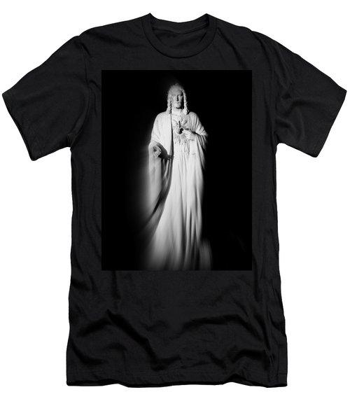 Views From Inside St Entienne Du Mont Church In Paris France Men's T-Shirt (Slim Fit) by Richard Rosenshein