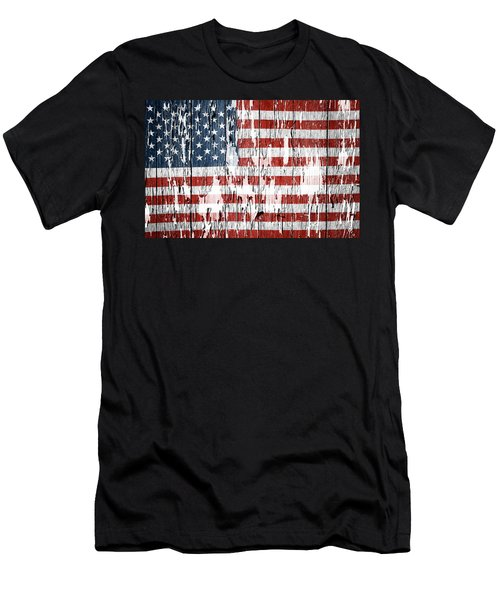 American Flag Men's T-Shirt (Athletic Fit)