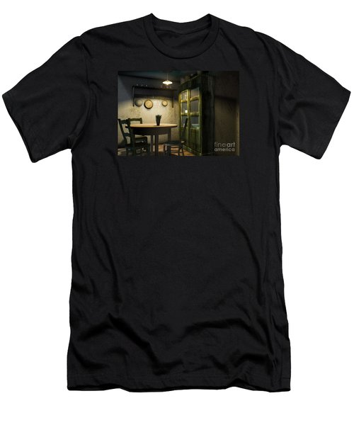 3d Dining Table Room Men's T-Shirt (Athletic Fit)