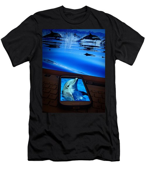 3d Phone... Men's T-Shirt (Slim Fit) by Alessandro Della Pietra