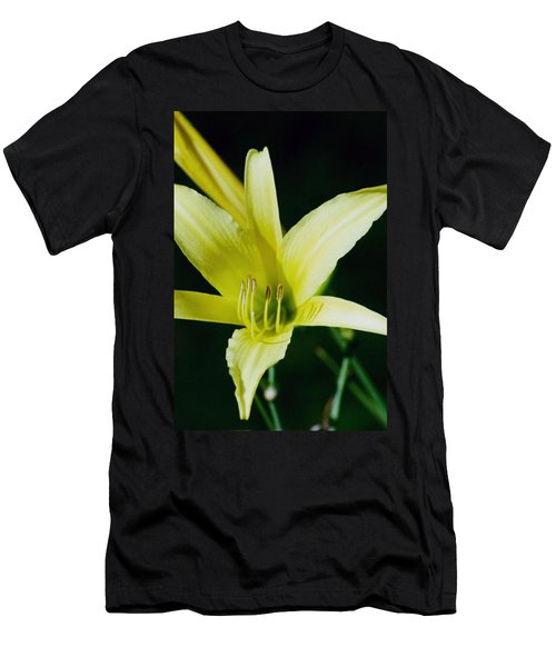 3d Yellow Daylily Men's T-Shirt (Slim Fit) by Belinda Lee