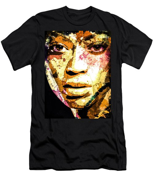Men's T-Shirt (Slim Fit) featuring the digital art Beyonce by Svelby Art