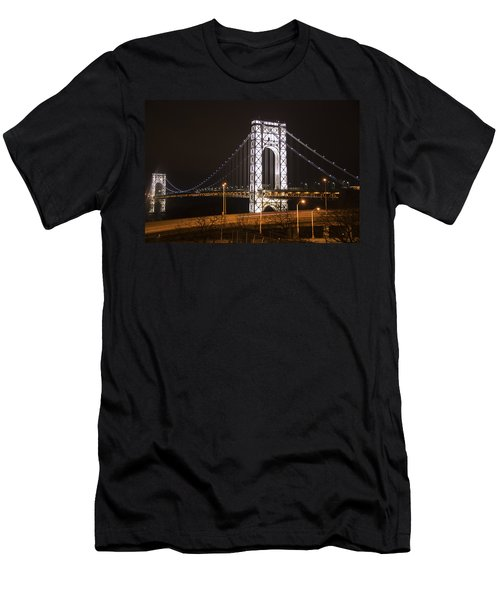 George Washington Bridge On President's Day Men's T-Shirt (Athletic Fit)